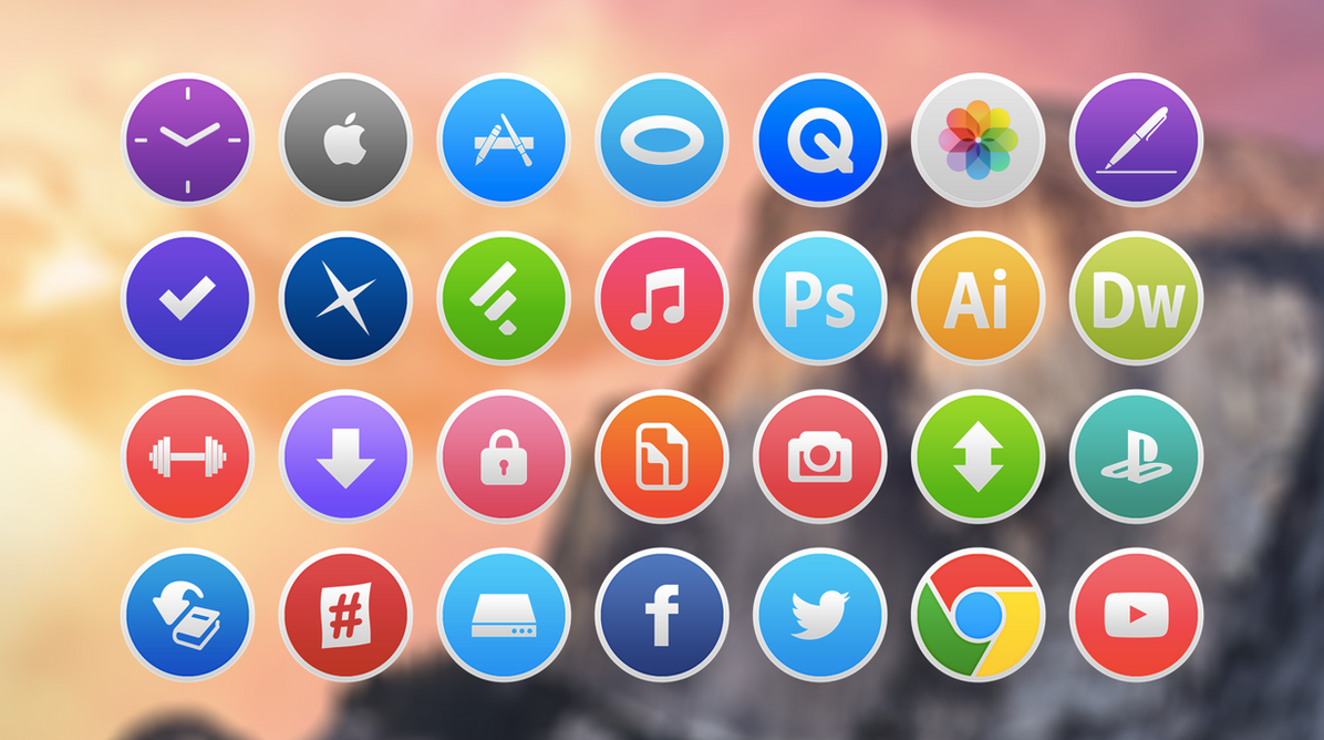 Yosemite Icons by NKx04