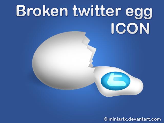 broken twitter egg by Miniartx
