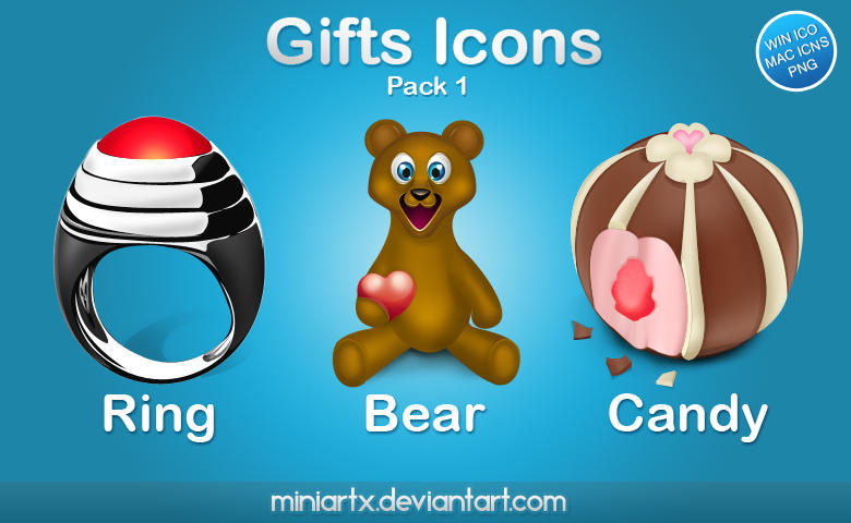 Gifts icons pack 1 by Miniartx