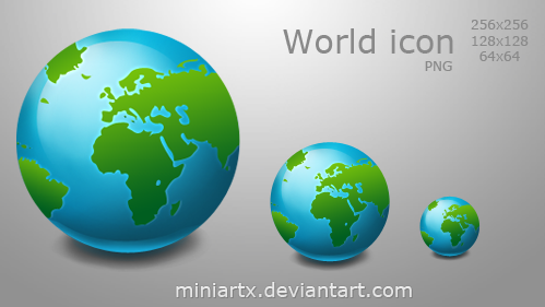 World icon by Miniartx