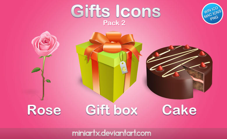 Gifts icons pack 2 by Miniartx