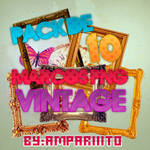 Pack 10 PNG ~ Marcos Vintage - by:Ampariiito