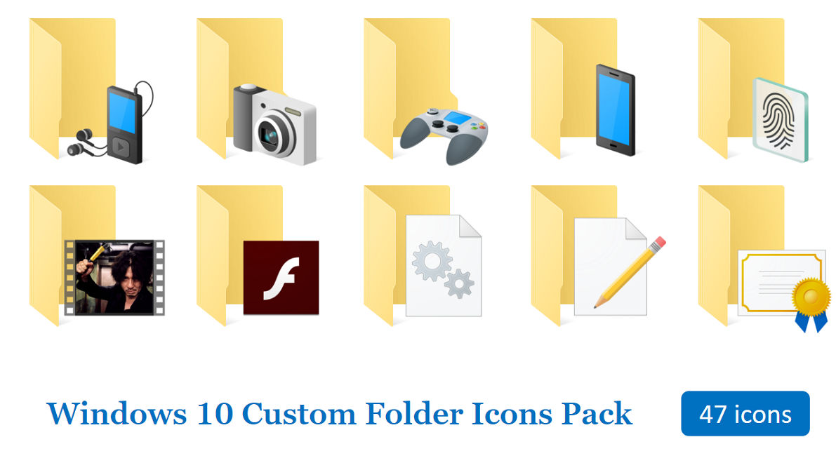 free folder icons for windows 10