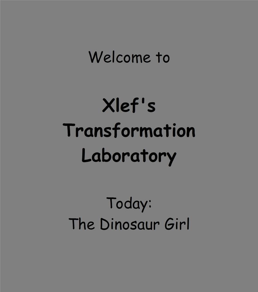 Xlabs 01- The Dinosaur Girl by xlef