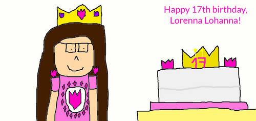 Happy 17th birthday, Lorenna Lohanna! by SarahVilela