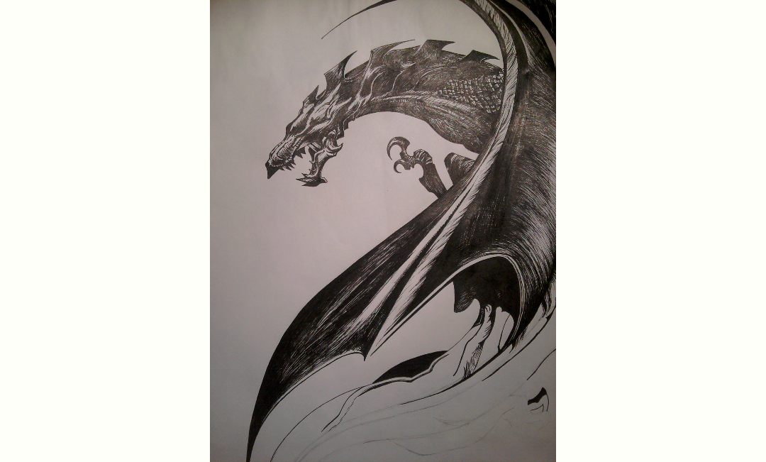 Unfinished dragon by Chamble97