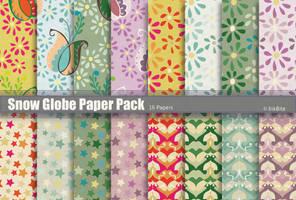Snow Globe Paper Pack by naga-pree