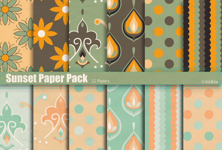 Sunset Paper Pack by naga-pree