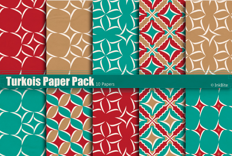Turkois Paper Pack