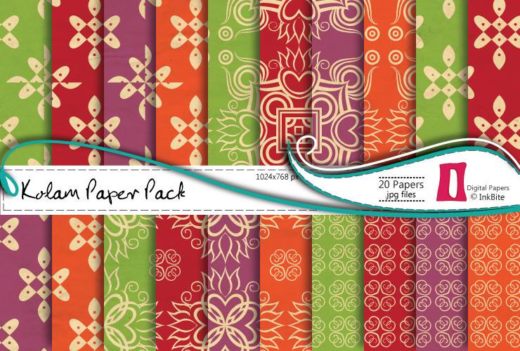 Kolam Paper Pack by naga-pree
