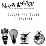Clock and Bulbs Brushes