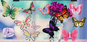 PACK Mariposas Animadas |Skins de Rainmeter.