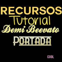 +Recursos Demi Beevato Portada Tutorial. by ElizaEdiitions