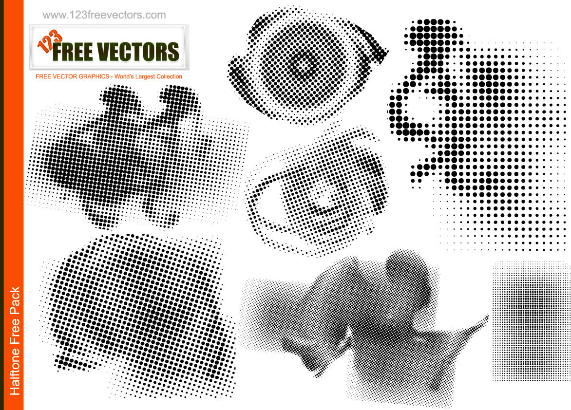 Halftone vectors by 123freevectors
