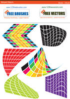 Warped Objects Vector Graphics by 123freevectors