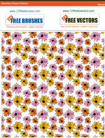 Seamless Flower Pattern Vector by 123freevectors