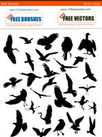 Bird Silhouette Brushes by 123freevectors