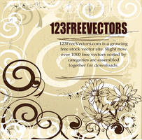 Floral Vector Background by 123freevectors