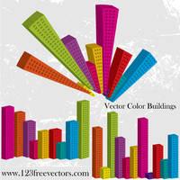 Vector Color Buildings by 123freevectors