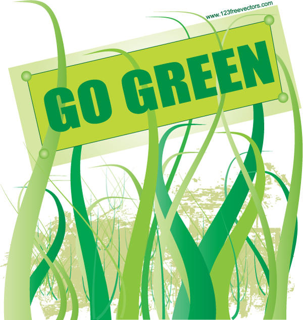 Go Green Vector by 123freevectors