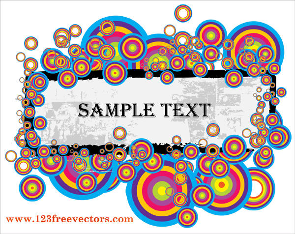 Colorful Text Banner Vector by 123freevectors