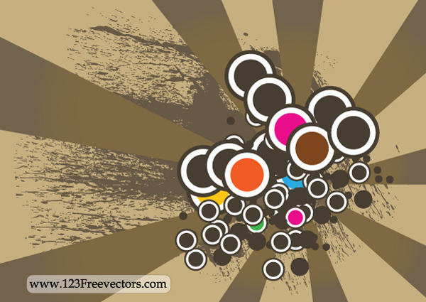 Retro Background Vector by 123freevectors
