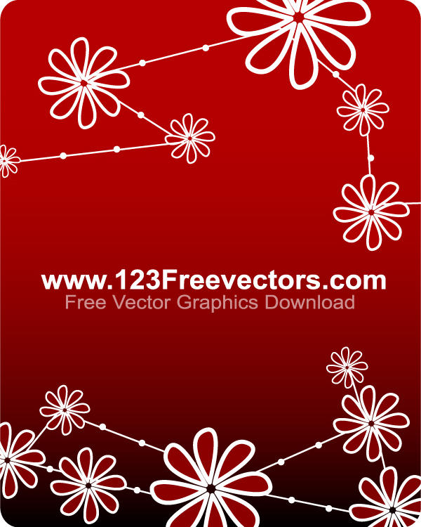 Vector Flower Background By 123freevectors On DeviantArt