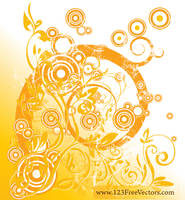 Swirl Floral Design Vector by 123freevectors