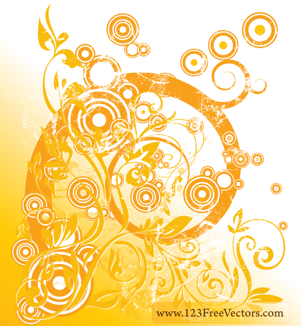 Swirl Floral Design Vector by 123freevectors on DeviantArt