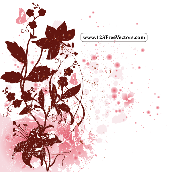 Spring Floral Background By 123freevectors On DeviantArt
