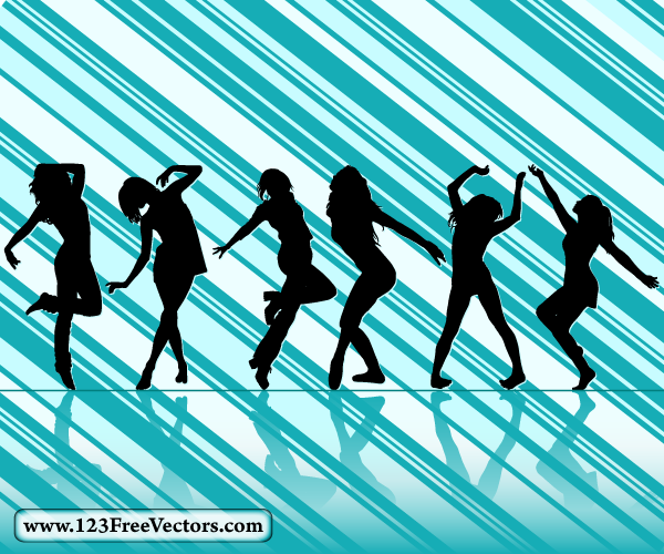 Dancing Girl Silhouettes