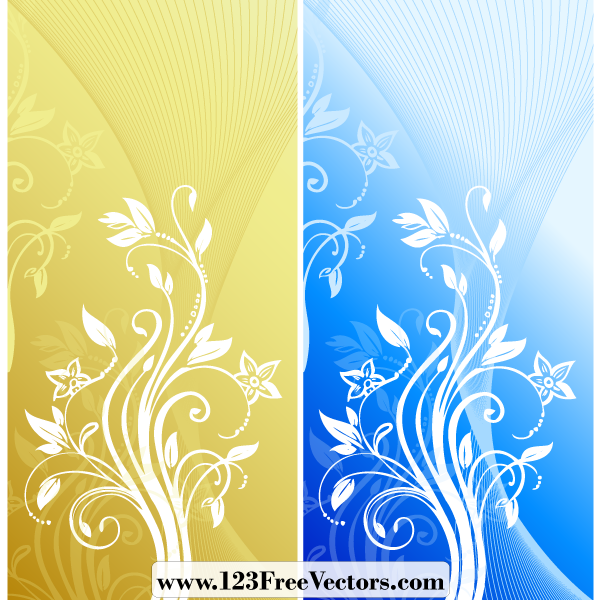 Abstract Floral Background Vector By 123freevectors On