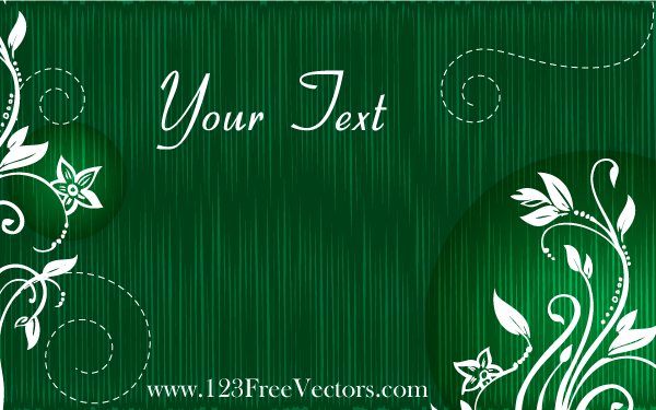 Vector Green Floral Text Banner by 123freevectors on ...
