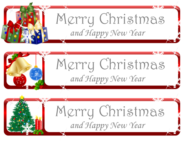 Christmas Greeting Banner Vector by 123freevectors