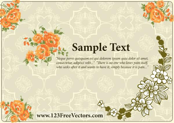 Flower Wedding Invitation Card by 123freevectors on DeviantArt
