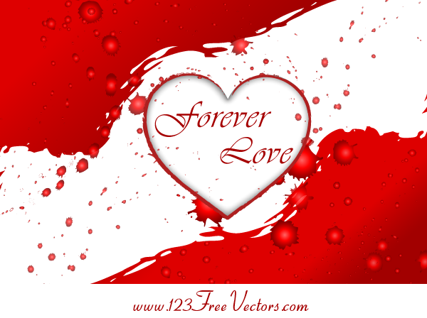 Valentines Heart Vector Graphics by 123freevectors