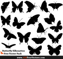 Free Butterfly Silhouette Photoshop Brush Pack by 123freevectors