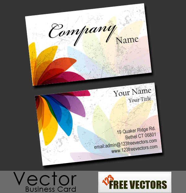 Free business card vector by 123freevectors on deviantart free business card vector by 123freevectors reheart Images