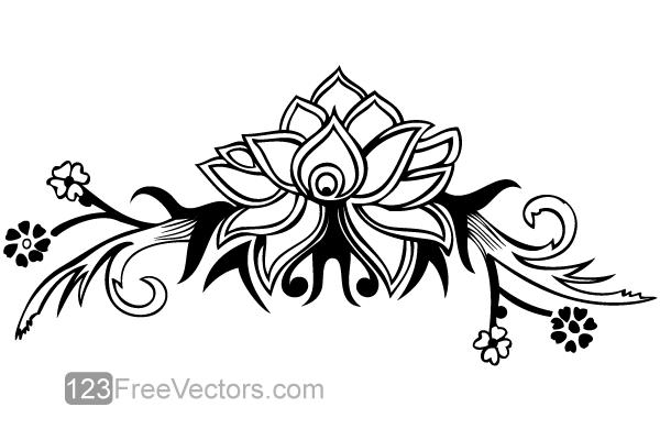 Line Art Flower Design : Hand drawn flower design vector by freevectors on deviantart