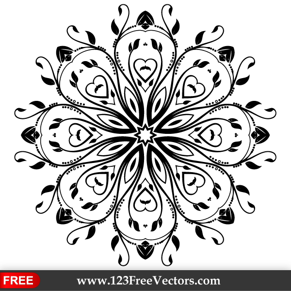 Flourish Vector Ornament Design by 123freevectors on ...
