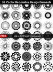 35 Vector Decorative Design Elements
