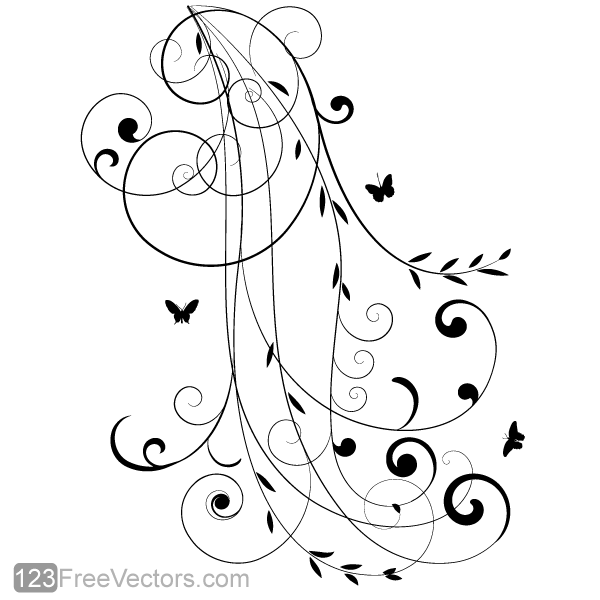 Vector Floral Design 8 by 123freevectors on DeviantArt