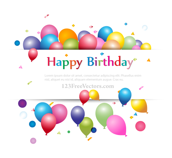 Happy Birthday Background Banner Design By 123freevectors