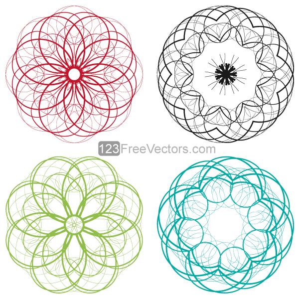 Circle Design Art : Vector circle decorative design elements set by