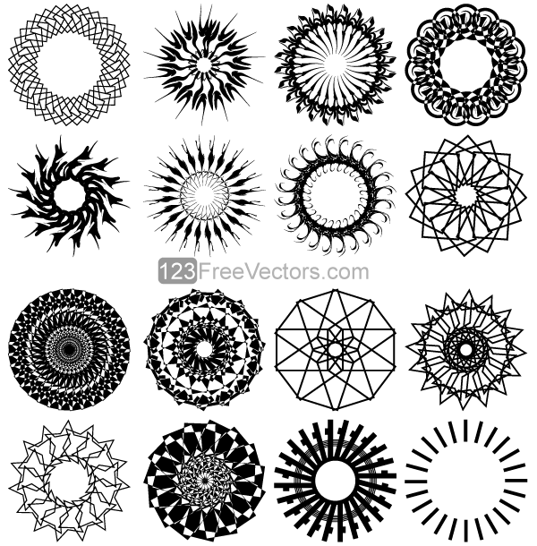 Circle Design Art : Geometric circle design vector art by freevectors on