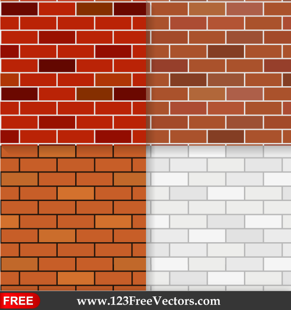 Brick Vector Picture Brick Veneers: Brick Wall Texture Seamless Pattern Background By