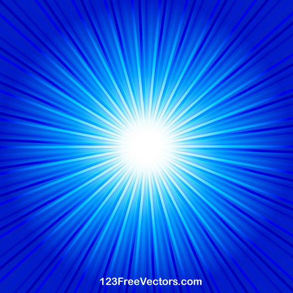 Abstract Blue Starburst Background Vector by ...