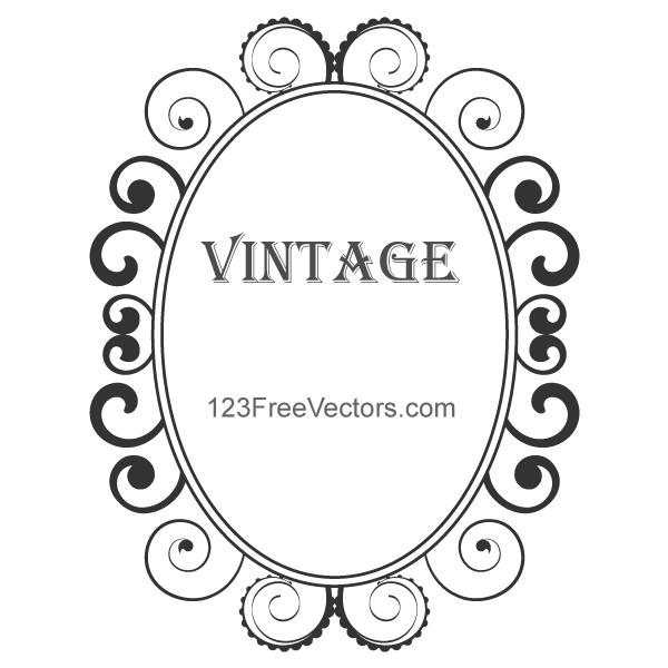 Vintage Floral Frame Vector by 123freevectors on DeviantArt