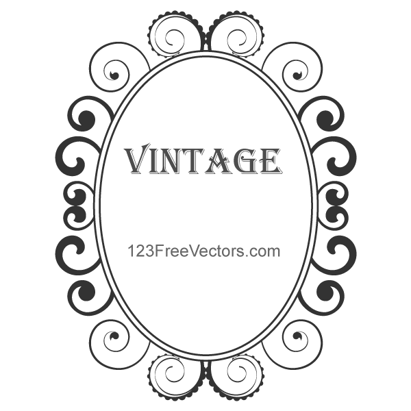 Vintage Floral Frame Vector By 123freevectors