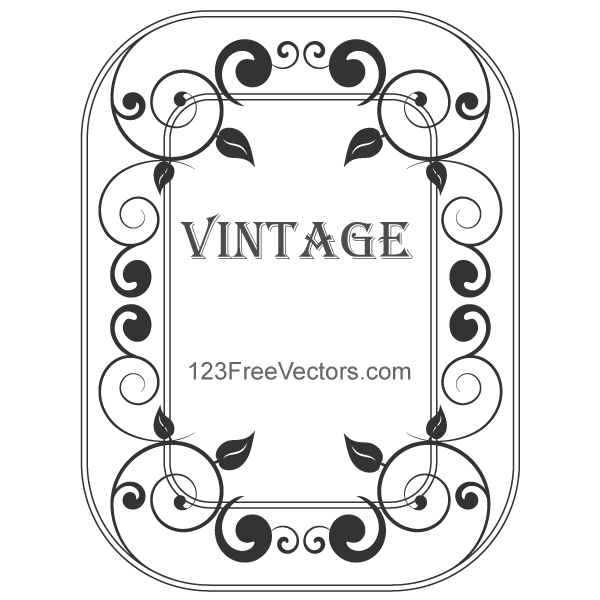 Decorative Vintage Frame Vector By 123freevectors On